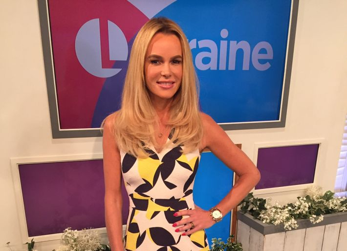 Amanda wears LK Bennett dress for Lorraine
