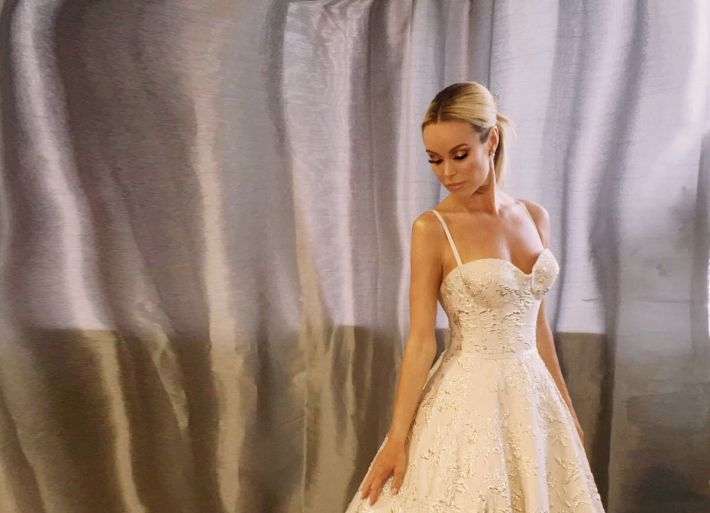 BGT Final Look - Amanda wears bridal gown by Suzanne Neville!